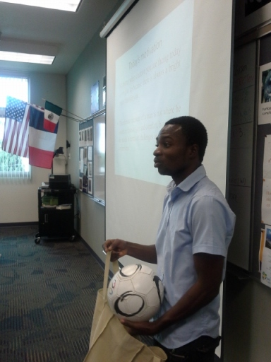 A St. Augustine student donated a soccer ball to YARID.